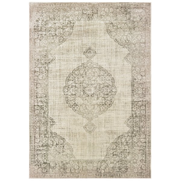 Ivory, Grey (D) Vintage / Overdyed Area-Rugs