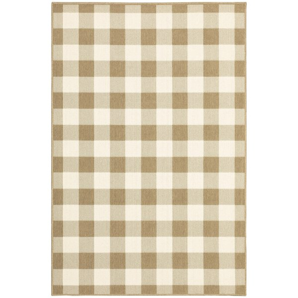 Tan, Ivory (I) Country Area-Rugs