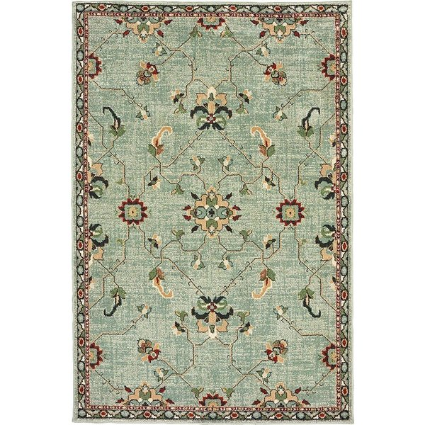 Teal, Blue Traditional / Oriental Area Rug