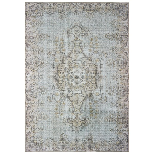 Grey, Gold Vintage / Overdyed Area-Rugs