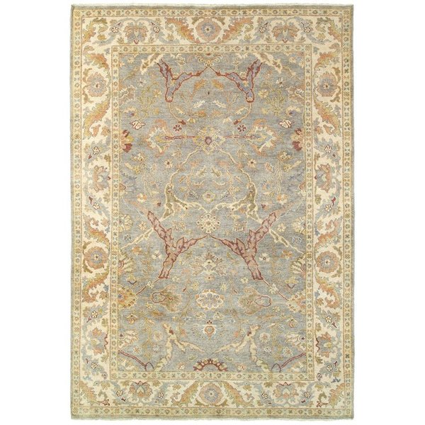 Grey, Beige Traditional / Oriental Area Rug