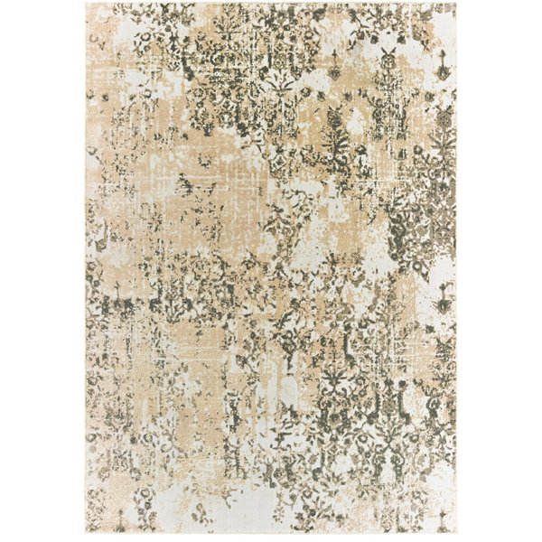 Grey, Gold (W) Vintage / Overdyed Area-Rugs