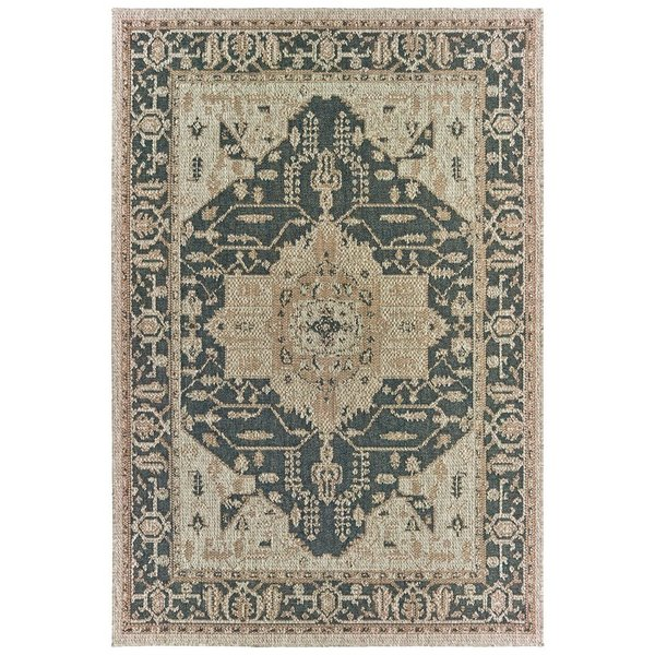 Grey, Gold (J3) Traditional / Oriental Area Rug