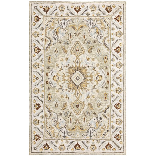Ivory, Beige Traditional / Oriental Area Rug