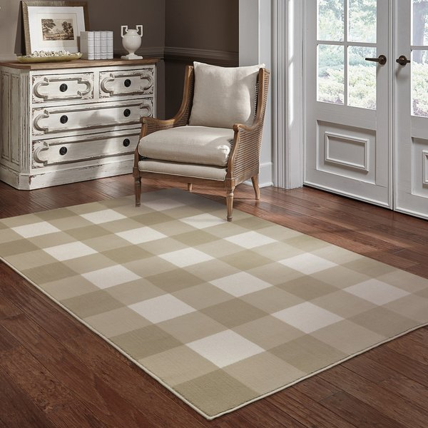 Beige (A) Country Area Rug