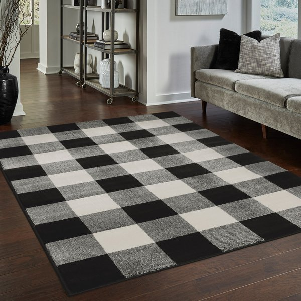 Black (D) Country Area Rug