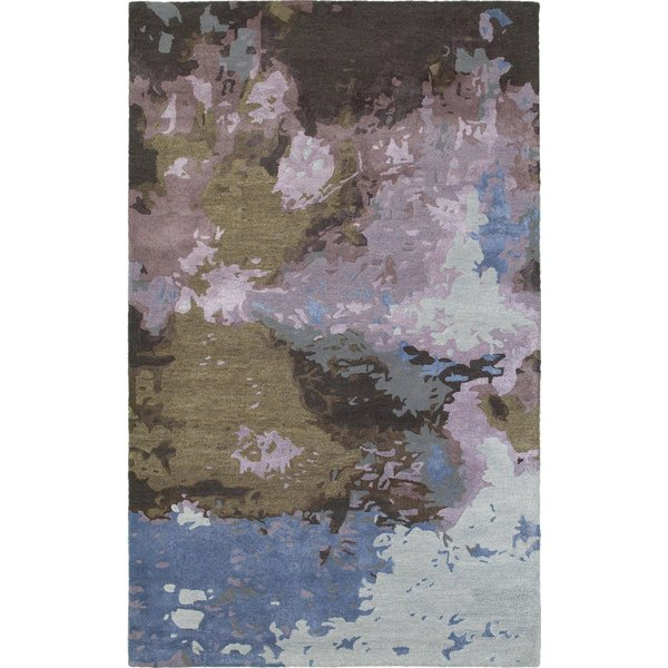 Purple, Brown, Blue Abstract Area-Rugs
