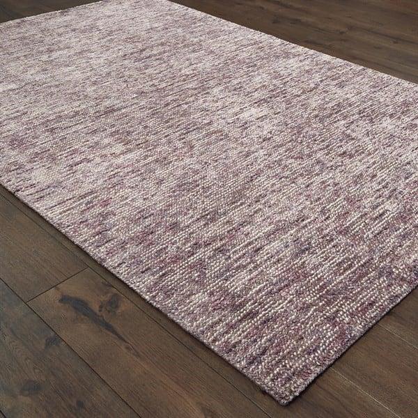 Purple (03) Contemporary / Modern Area Rug