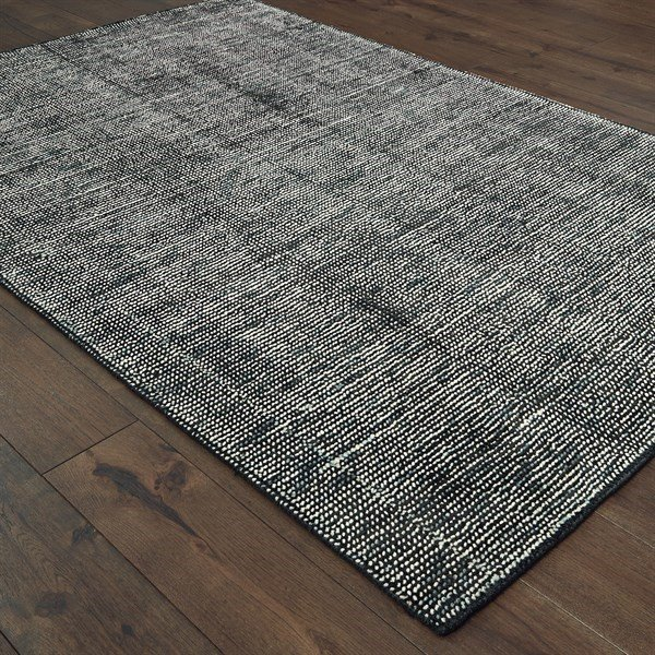 Charcoal (04) Contemporary / Modern Area Rug