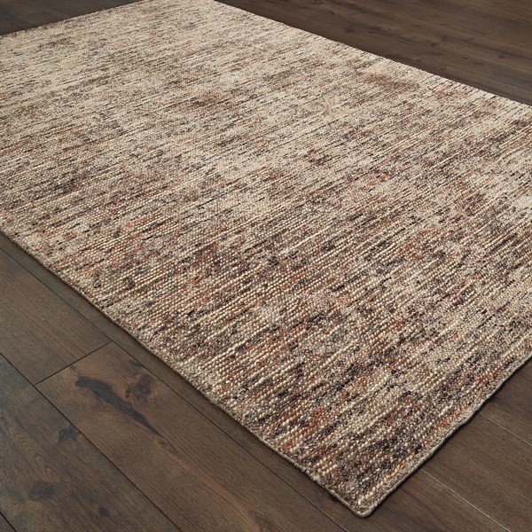 Taupe (07) Contemporary / Modern Area Rug
