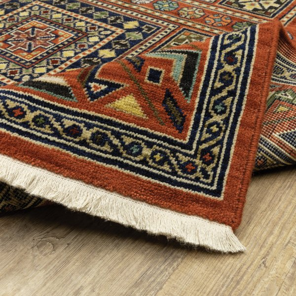 Red Bohemian Area Rug