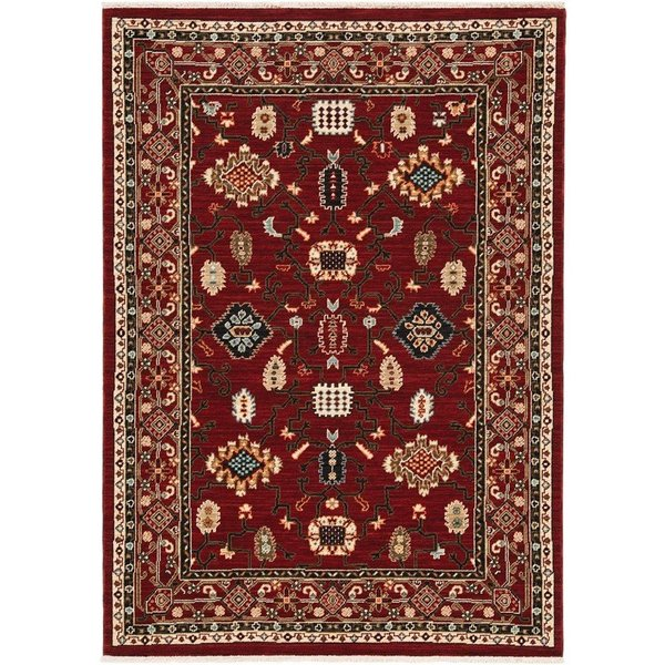 Red, Black Bohemian Area-Rugs