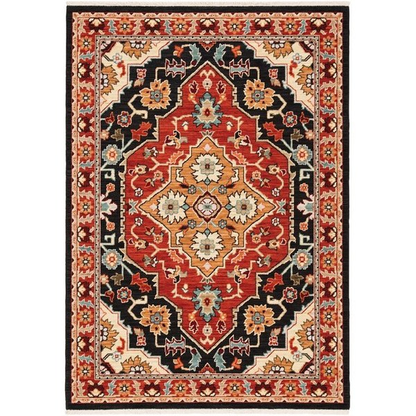 Black, Red Bohemian Area-Rugs