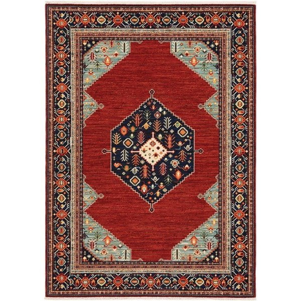 Red, Blue Bohemian Area-Rugs