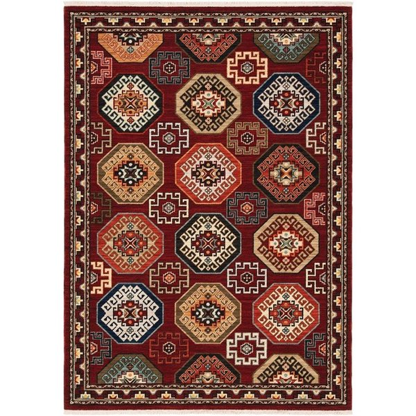 Red Bohemian Area-Rugs
