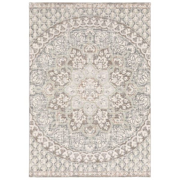 Ivory, Grey Contemporary / Modern Area-Rugs