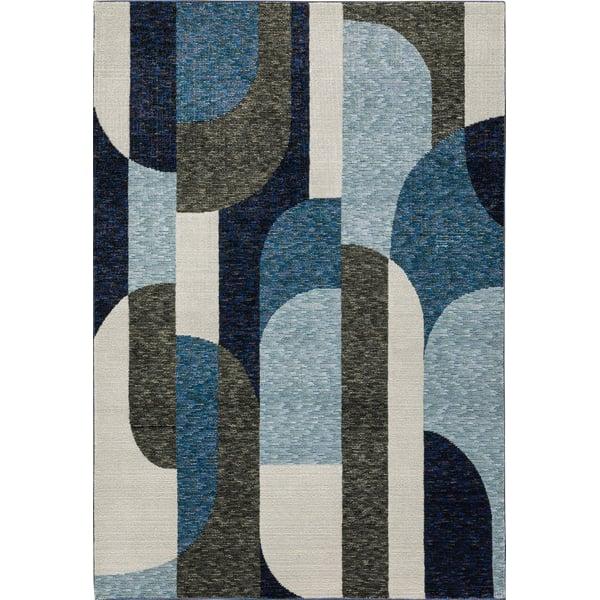 Blue, Grey Contemporary / Modern Area Rug