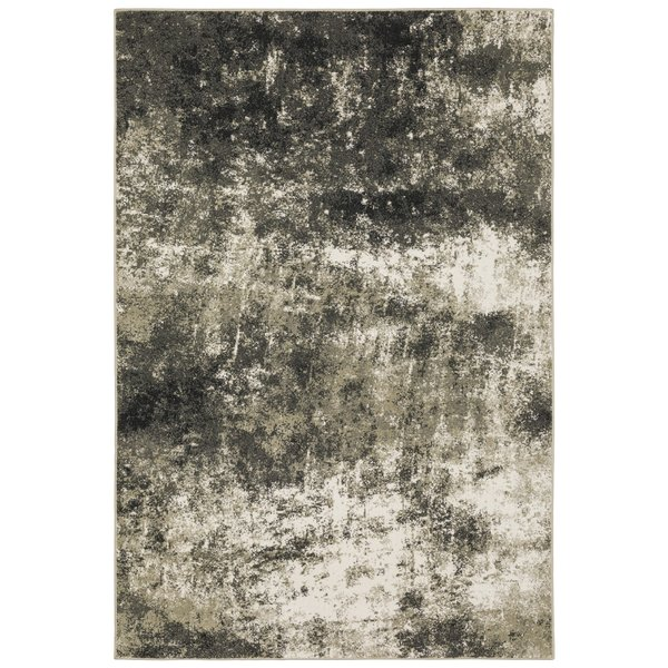 Charcoal, Beige (Y) Abstract Area-Rugs