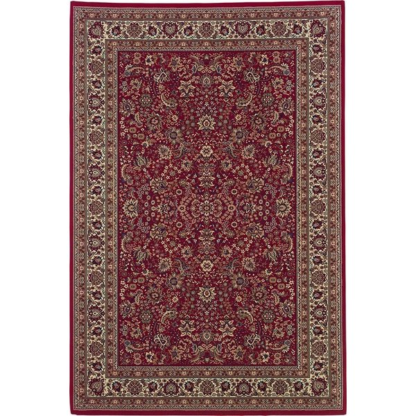 Red, Ivory (113R3) Traditional / Oriental Area Rug