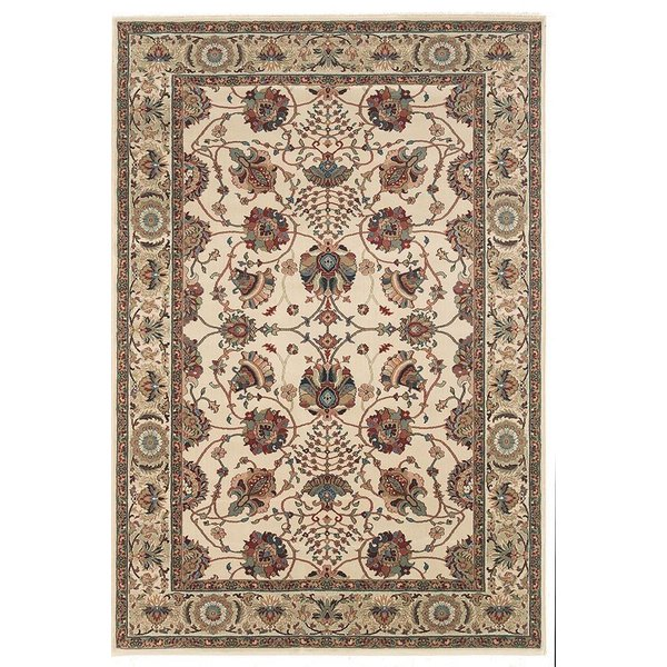Ivory, Red (431O) Traditional / Oriental Area Rug