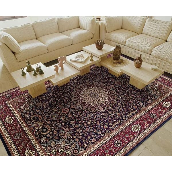 Blue, Red (95B) Traditional / Oriental Area Rug