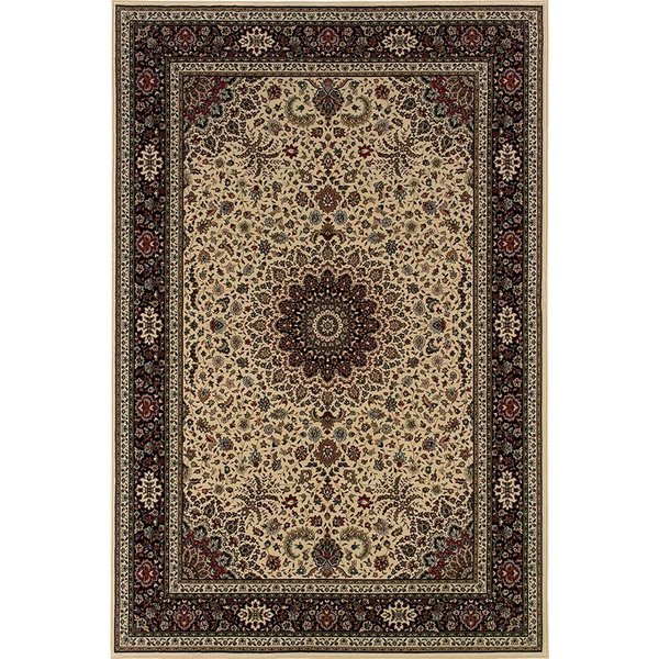 Ivory, Black (95I) Traditional / Oriental Area Rug