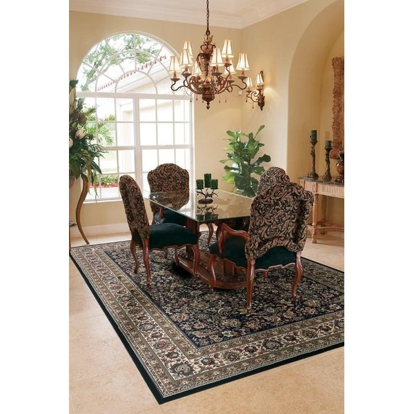 Black, Ivory (213K8) Traditional / Oriental Area Rug