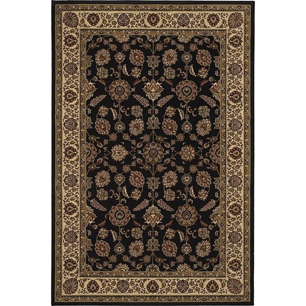 Brown, Ivory (271D) Traditional / Oriental Area Rug