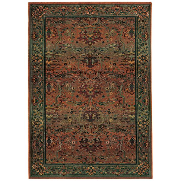 Green, Beige Traditional / Oriental Area-Rugs