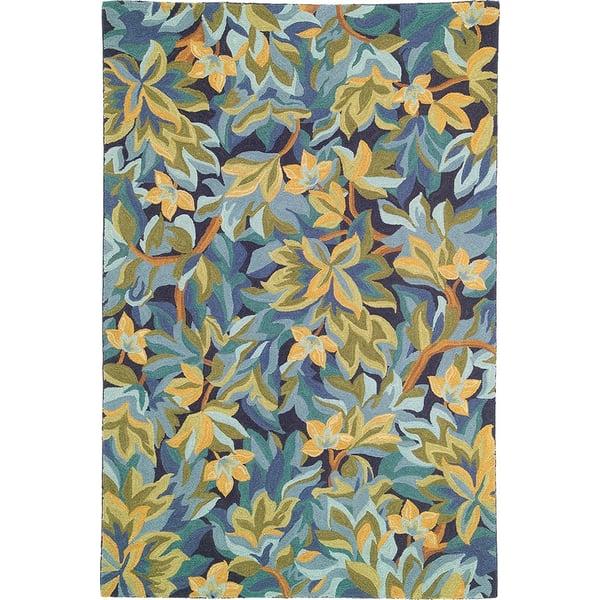 Indigo (18232) Floral / Botanical Area-Rugs