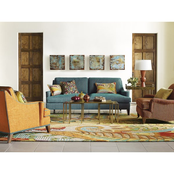 Brown, Blue (19400) Contemporary / Modern Area Rug