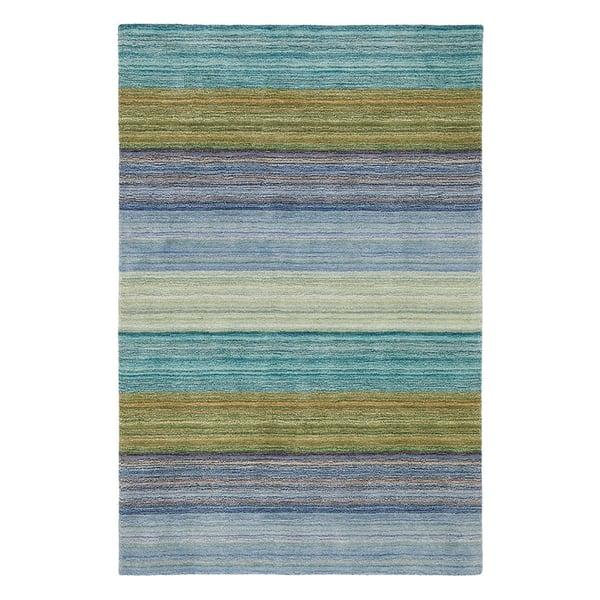 Blue (18695) Striped Area Rug