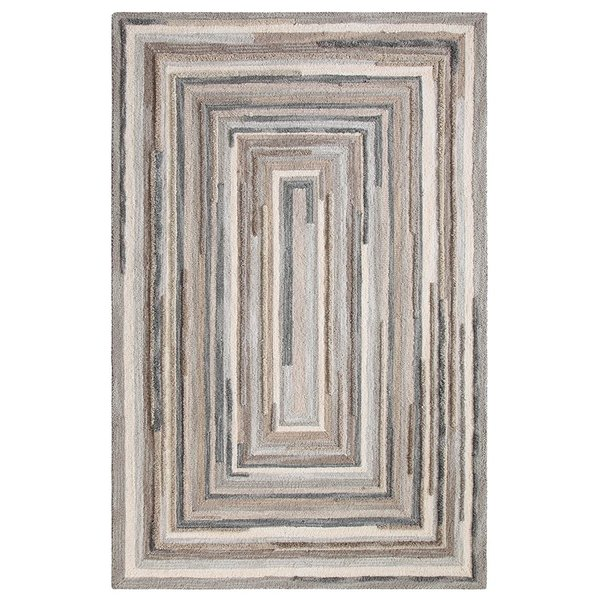 Grey (18143) Contemporary / Modern Area Rug