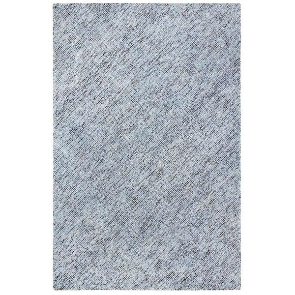 Blue, White, Black Contemporary / Modern Area Rug