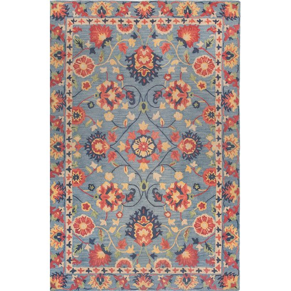 Blue, Red, Yellow Traditional / Oriental Area Rug
