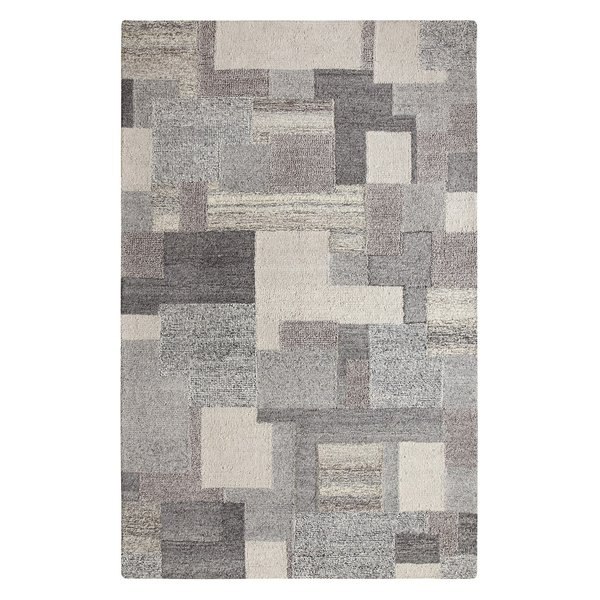 Charcoal, Grey, Light Grey Contemporary / Modern Area Rug