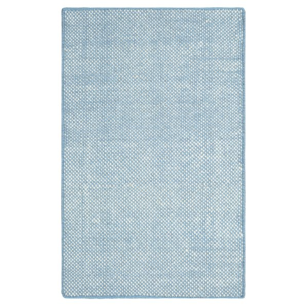 Blue, White Solid Area Rug