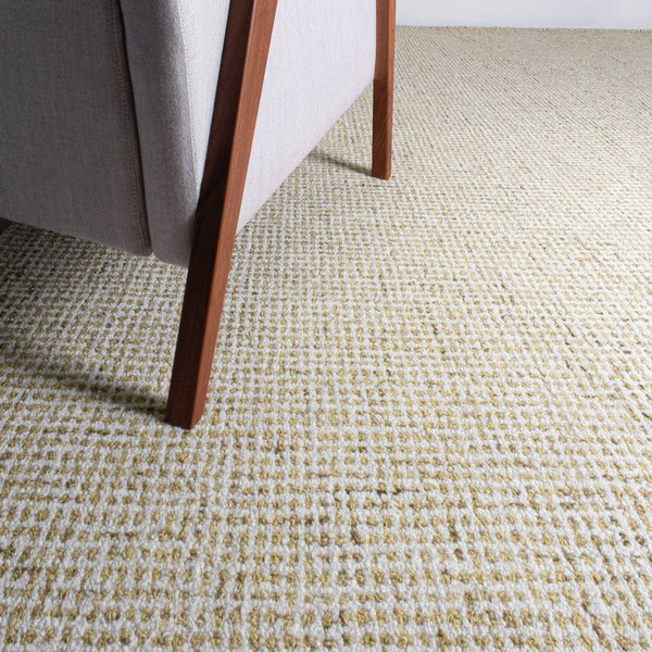 Tan, Ivory Solid Area Rug