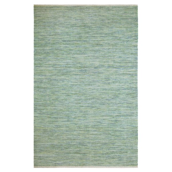 Green, Blue Solid Area Rug