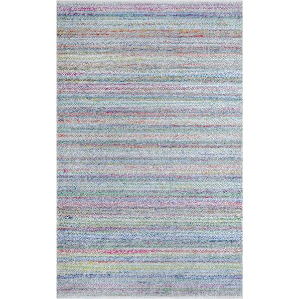 Blue, Purple, Beige Contemporary / Modern Area Rug