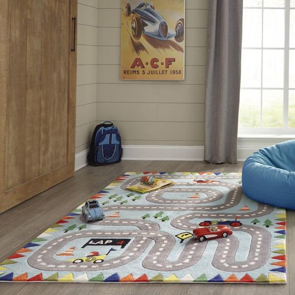 Light Blue Children's / Kids Area Rug