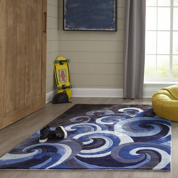 Surf Contemporary / Modern Area Rug