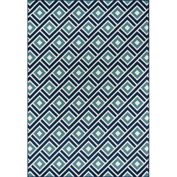Blue  Contemporary / Modern Area Rug
