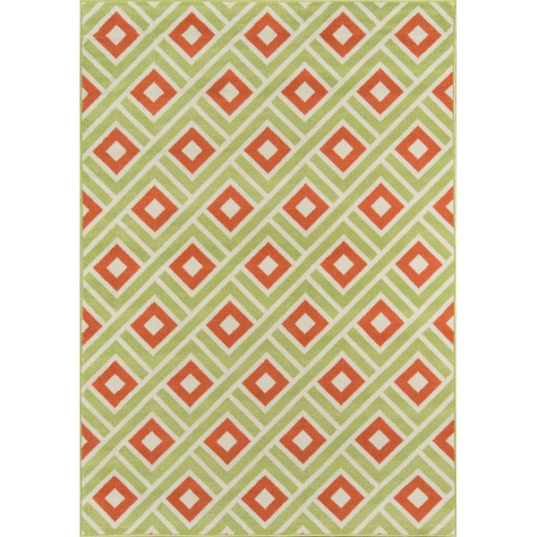 Green Contemporary / Modern Area-Rugs