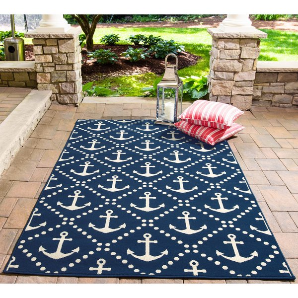 Navy Beach / Nautical Area Rug
