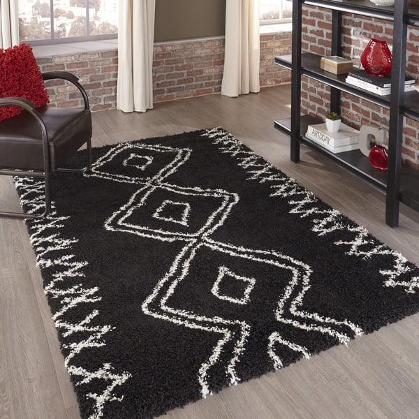 Black Moroccan Area-Rugs