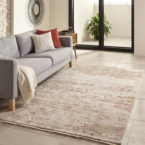 Taupe Abstract Area Rug