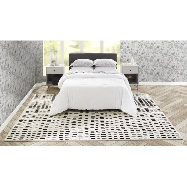 Ivory (DEL-11) Contemporary / Modern Area Rug