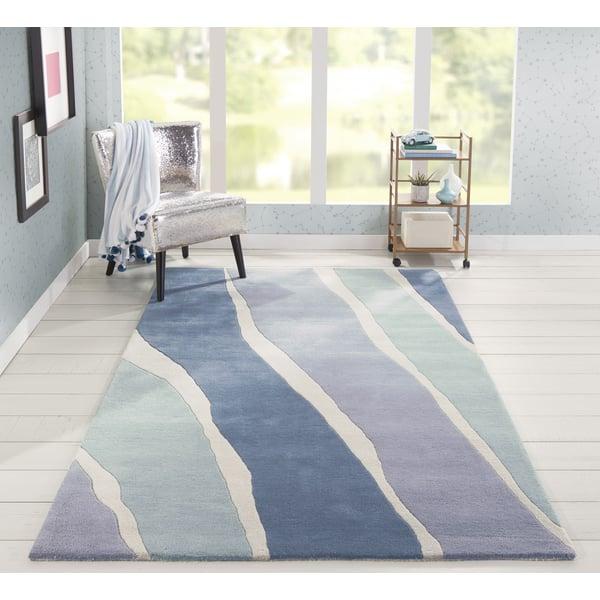 Blue (DEL-4) Contemporary / Modern Area Rug