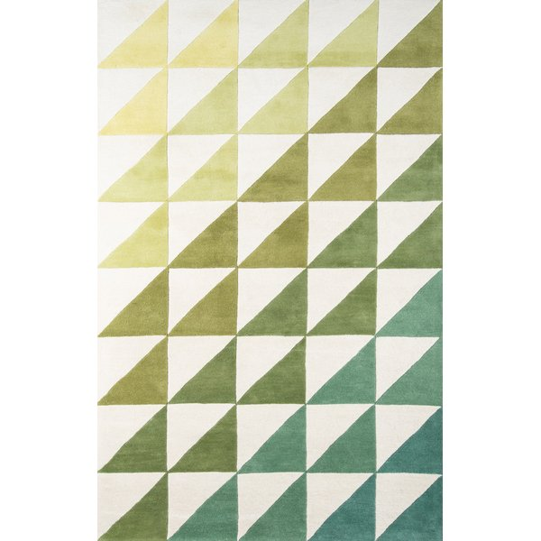 Lime (DEL-6) Contemporary / Modern Area-Rugs